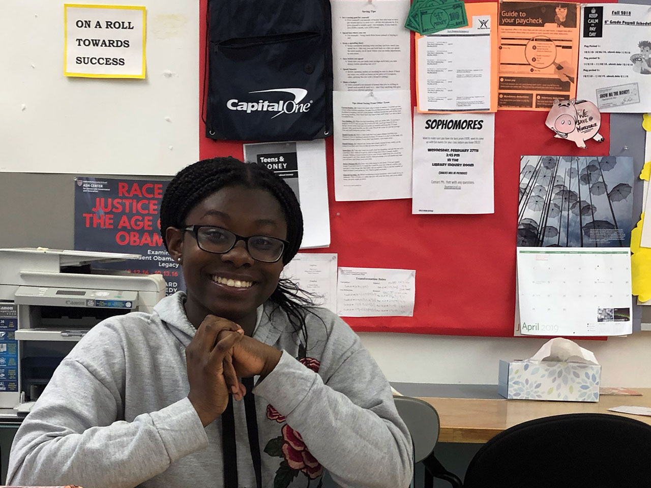Smiling High School Student Quoted in Article